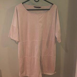 Zara faux suede mini dress. L